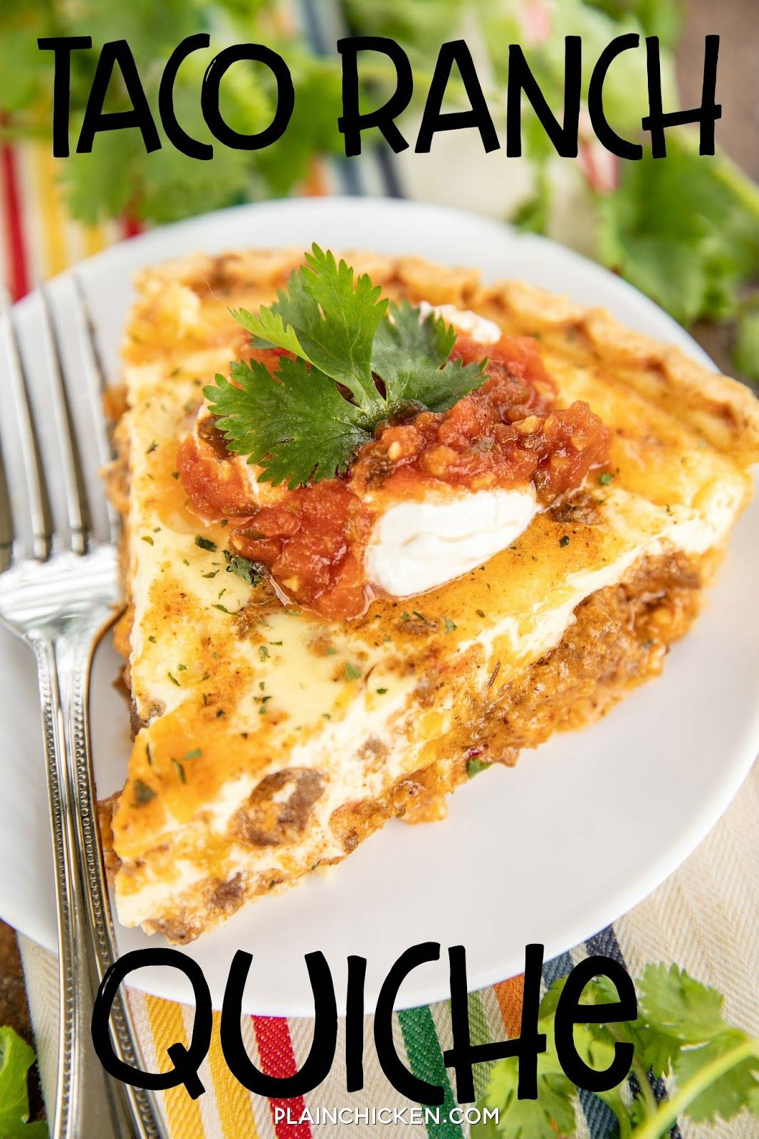 Taco Ranch Quiche - Plain Chicken