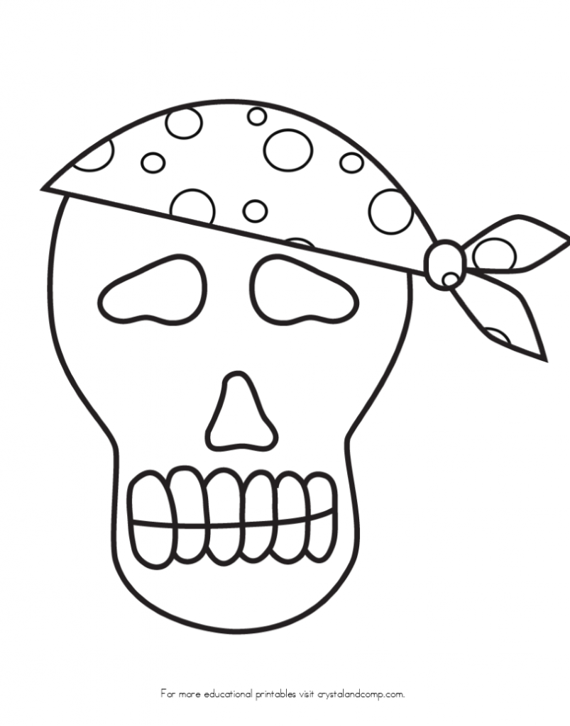 Skeleton Pirate Picture To ColorPiratePrintable Coloring Pages