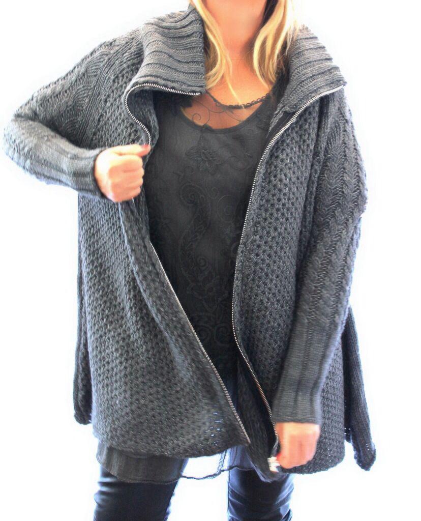 gilet grande taille gris laine automne hiver grande taille femme boheme. Black Bedroom Furniture Sets. Home Design Ideas