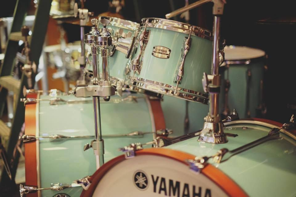 2016 Yamaha Recording Custom Drums in Surf Green. Reintroduction of the legendary RC line. WANT!