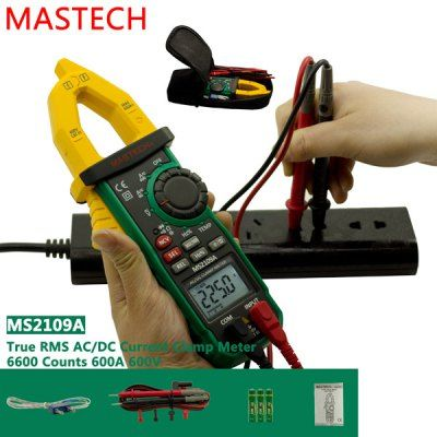 $56.88 (Buy here: http://appdeal.ru/ae7w ) MASTECH MS2109A AC / DC Digital Clamp Meter 6600 Counts Auto Range Data Holding for just $56.88