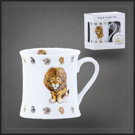tasse th pas cher lion mug caf porcelaine dans la collection les animaux d 39 afrique pour. Black Bedroom Furniture Sets. Home Design Ideas