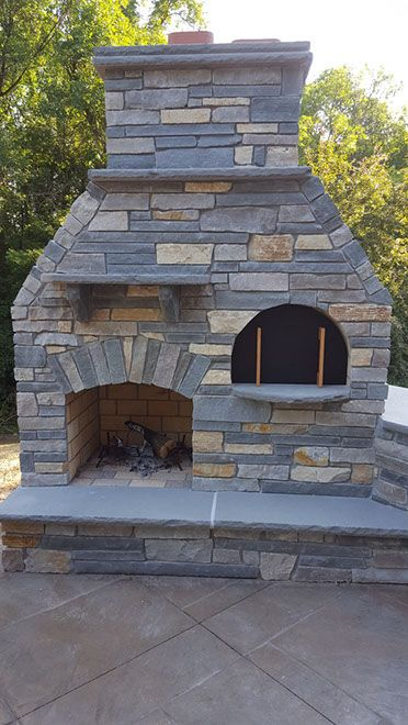 Outdoor DIY Pizza Oven and Fireplace by BrickWood Ovens ...