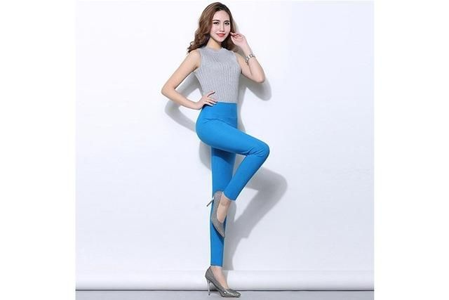 21c9f4fa2908b Plus size 5XL 18 Colors Candy Color Leggings For Women 2017 Summer High  Waist Stretch office Girls Skinny Leggings Female pants