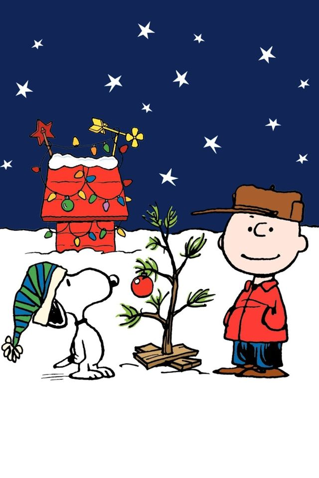 60 beautiful christmas iphone wallpapers free to download - Peanuts Christmas