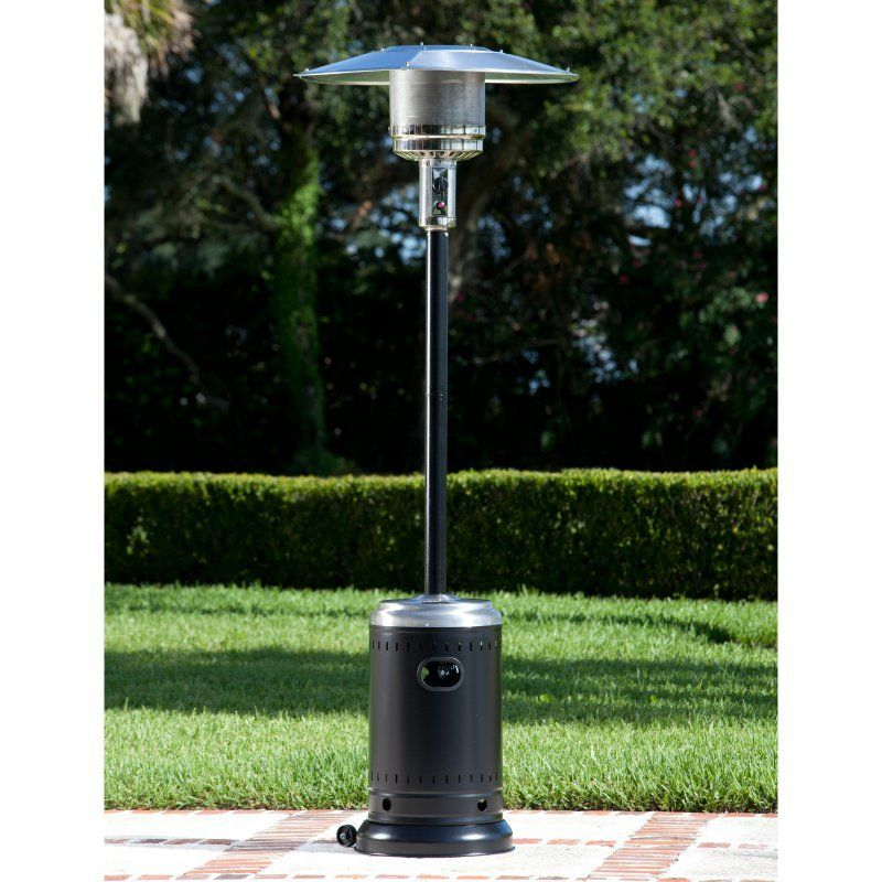 Fire Sense Black Commercial Propane Patio Heater   61444