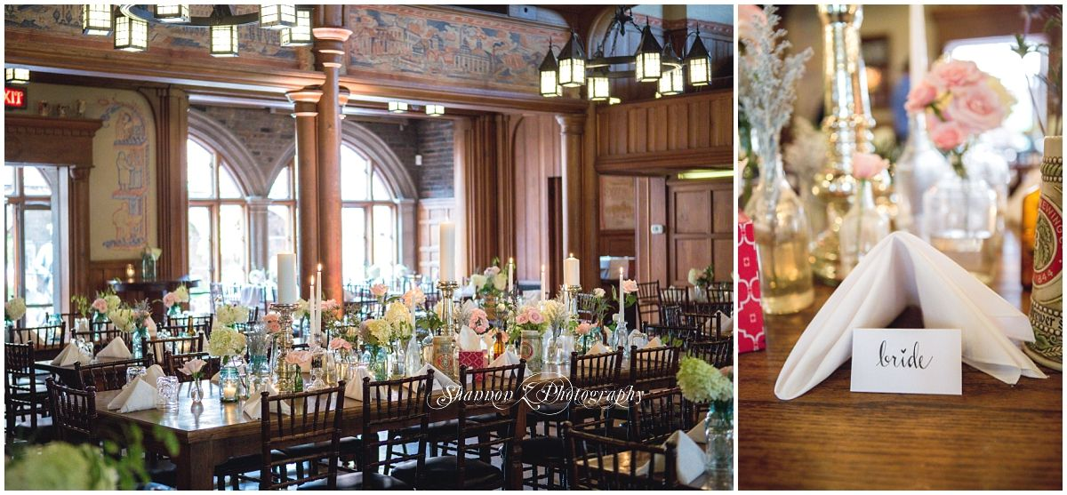 Terrace Wedding At The Best Place Historic Pabst Brewery Milwaukee Venue Bare Wood Tables