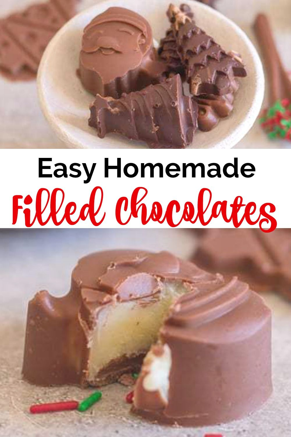 Easy Homemade Filled Chocolates, a delicious filled ...