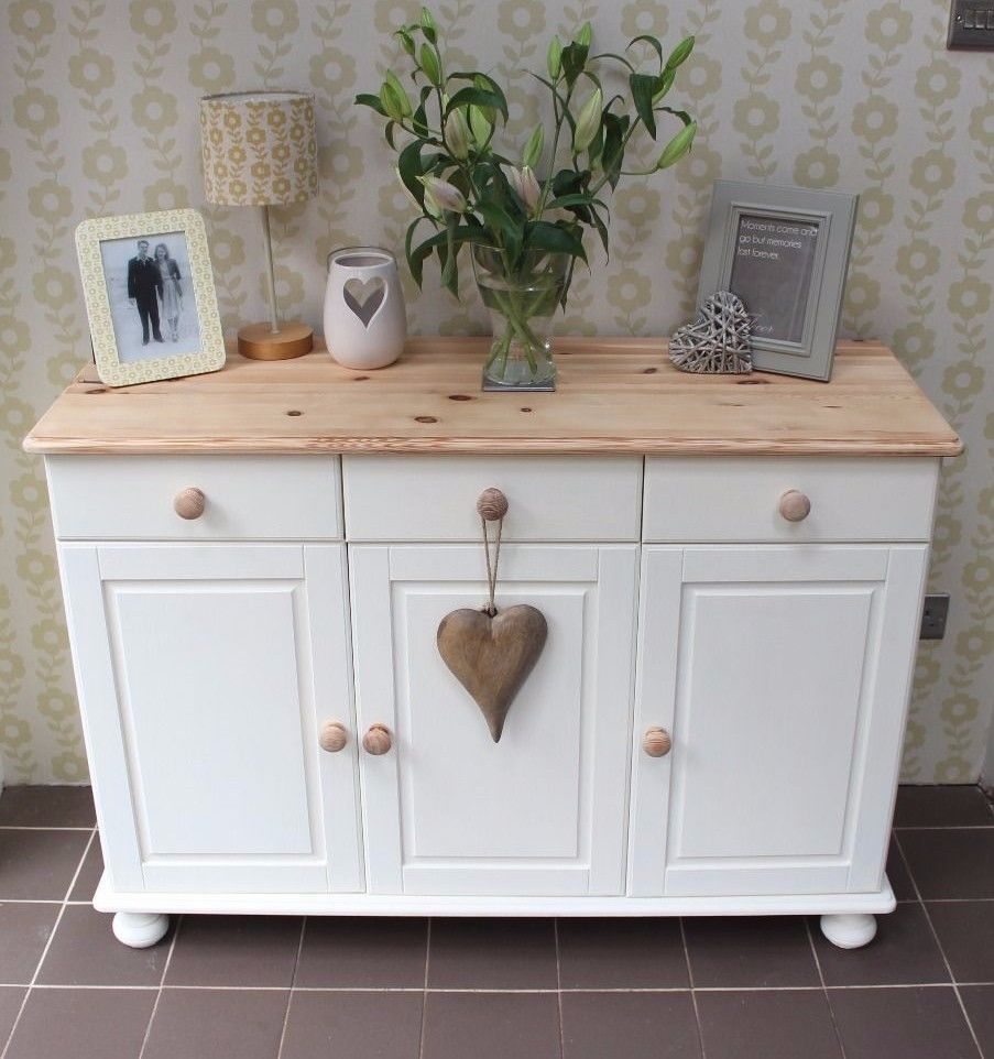 Shabby Chic Annie Sloan painted pine sideboard in | eBay ...