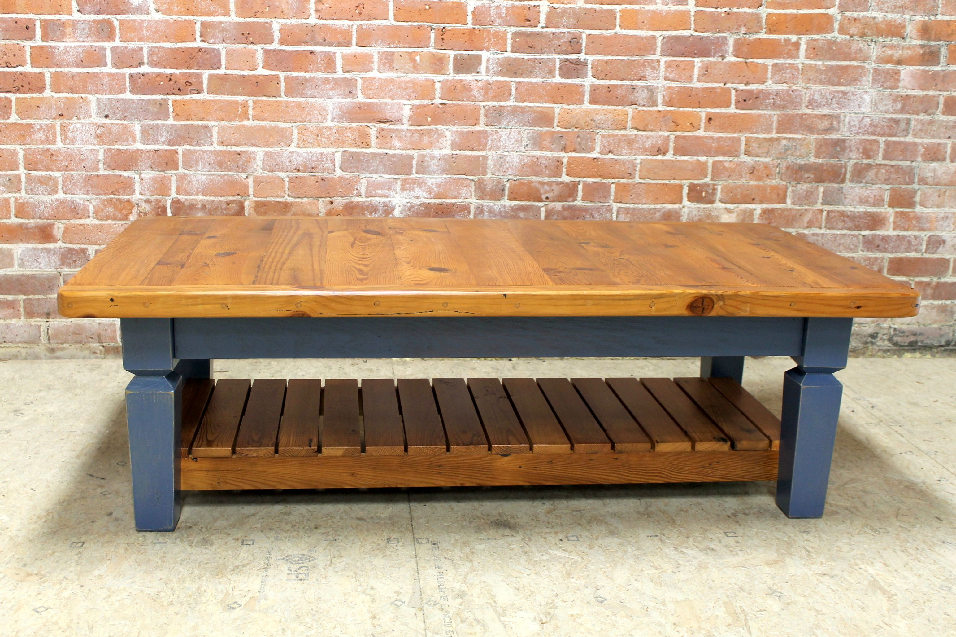 Coffee Table With Custom Slats  Made From Reclaimed Wood