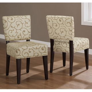 @Overstock.com   Savannah Damask Dining Chairs (Set Of 2)   This