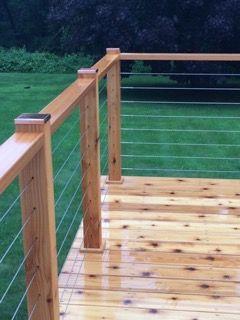 Low Profile Copper Post Caps Deck Railing Design Patio Railing Outdoor Living Deck