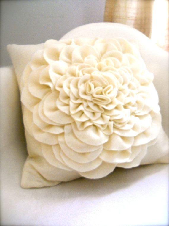 Eco friendly felt vanilla peony marshmallow by SweetTreatsShop, $35.00