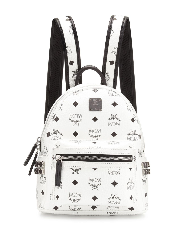 0fa05a46190 Stark Side-Stud Mini Backpack White | *Luggage & Bags > Backpacks ...