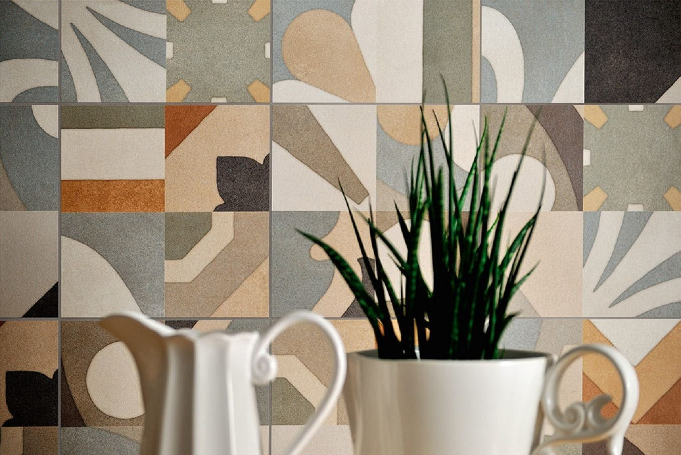Fioranese-cementine-boho-11, Kitchen, Living room, Patchwork