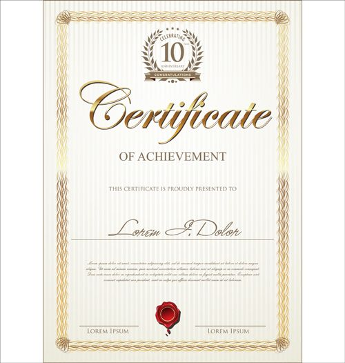 Image from    freedesignfile upload 2014 03 Modern - certificate of attendance template free download