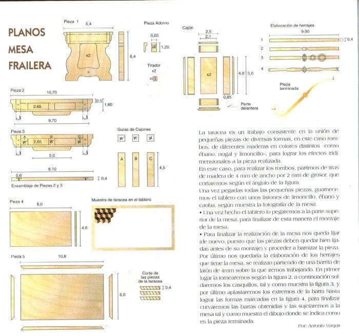 Casas De Muñecas Planos Para Construir Mesas Muebles En Miniatura Casas De Muñecas Planos