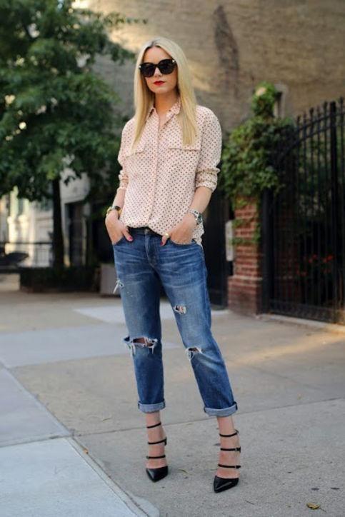 Summer denim outfit ideas: Atlantic-Pacific's boyfriend jeans