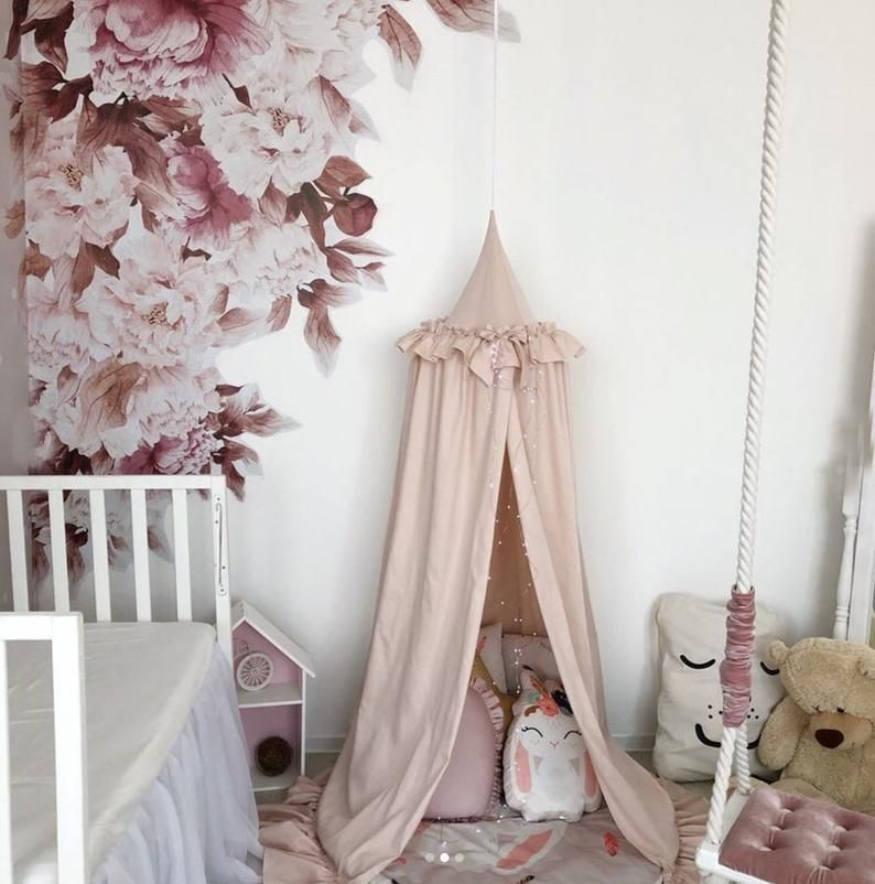 Bed Canopy for girls, Nook Baldachin, Hanging Play Canopy ...
