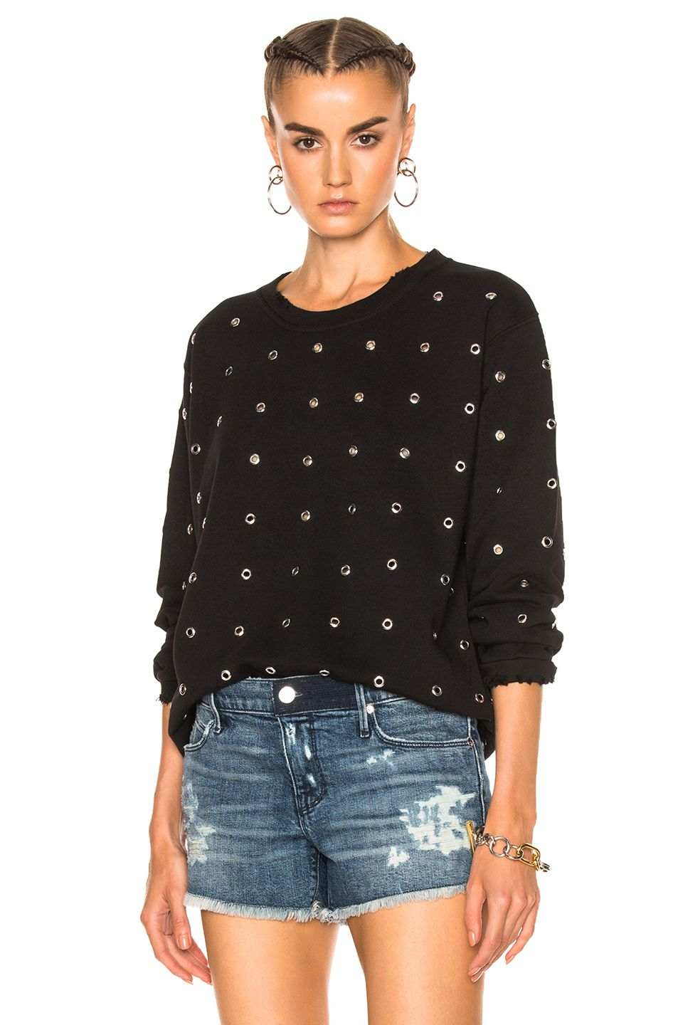 Image 1 of RtA Beal Sweater in Noir