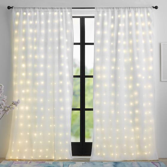 Light Up Window Sheer Curtain Panel Window Sheers Sheer Curtain