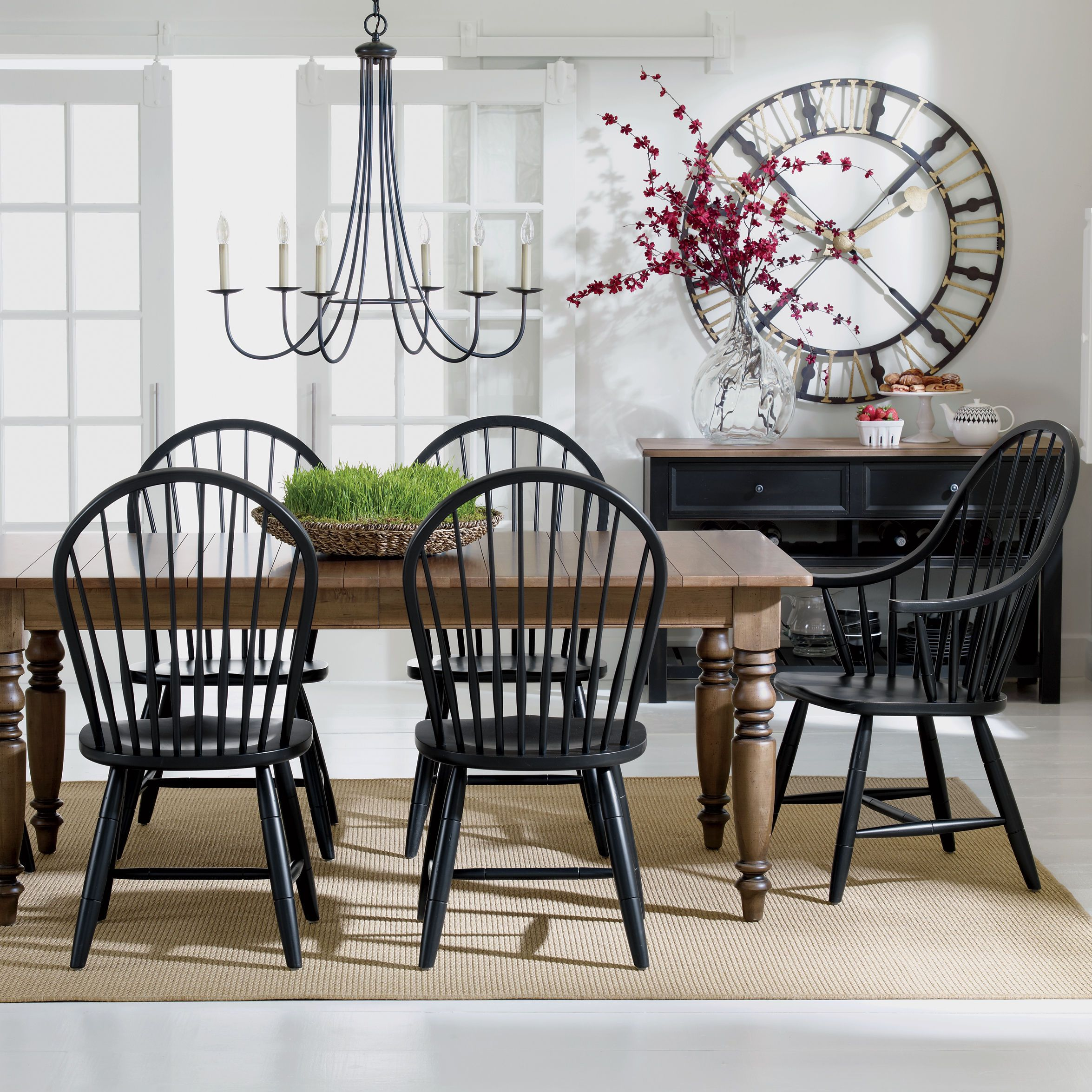 Six Light Iron Chandelier  Ethan Allen Us $492 And Windsor Chairs Gorgeous Ethan Allen Dining Rooms Decorating Inspiration