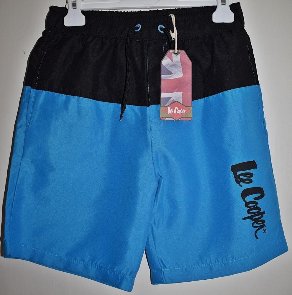 52b0ebdaef BNWT LEE COOPER Boys Turquoise & Black Sport Beach Swim Shorts Age 11-12  Years