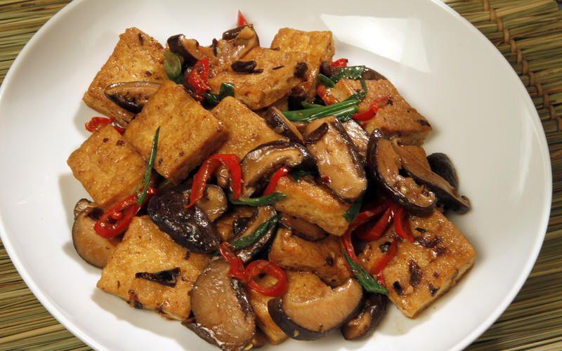 Vegetarian Hunan Style Tofu Recipe Bean Recipes Vegetarian Dishes Recipes