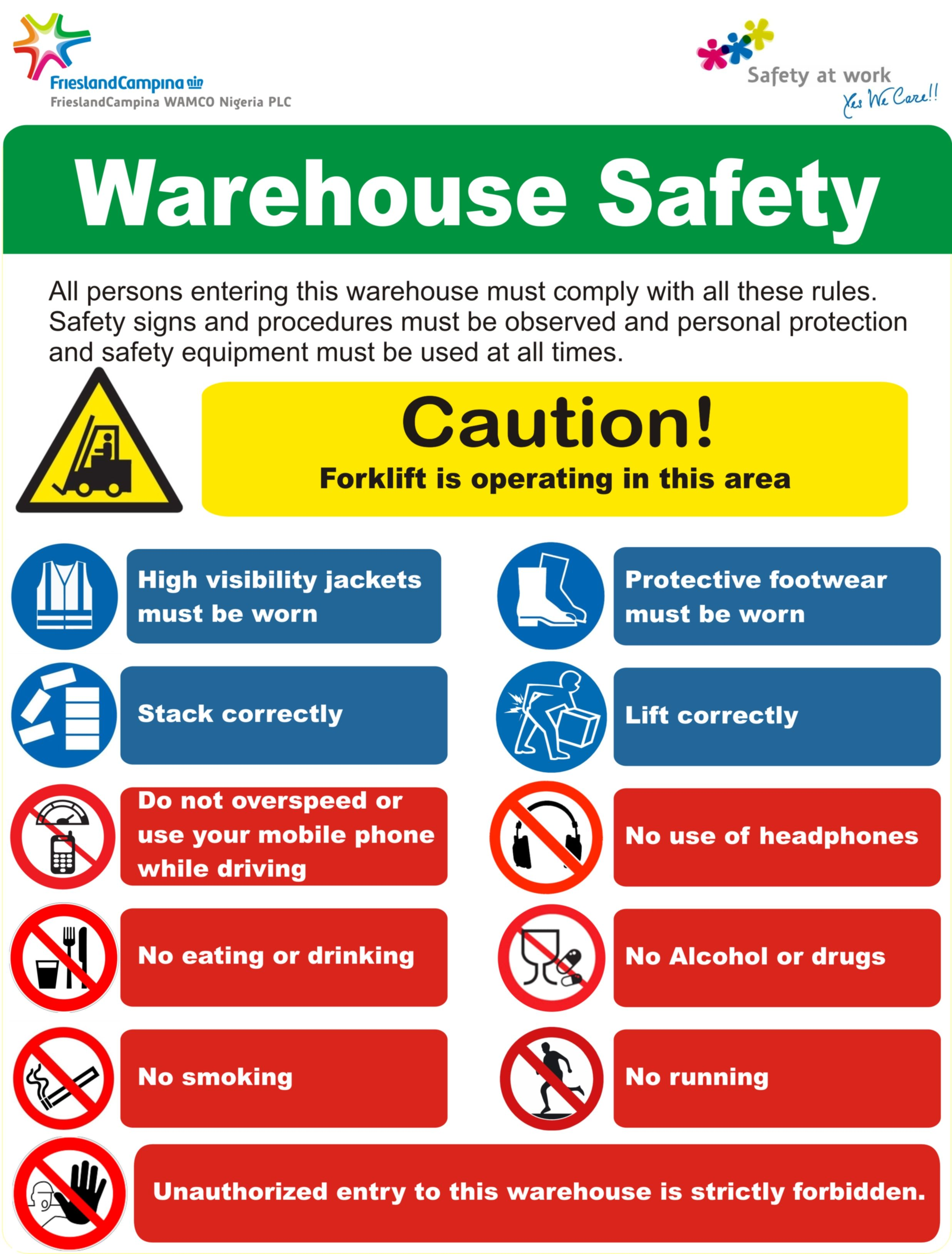 More on forklift safety Material Handling 'n More