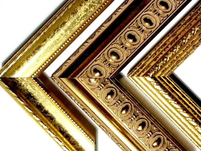 114 Ft Gold Trio Ornate Gold Picture Frame Moulding 3 Different Styles Real Wood Gold Picture Frames Picture Frame Molding Wholesale Picture Frames