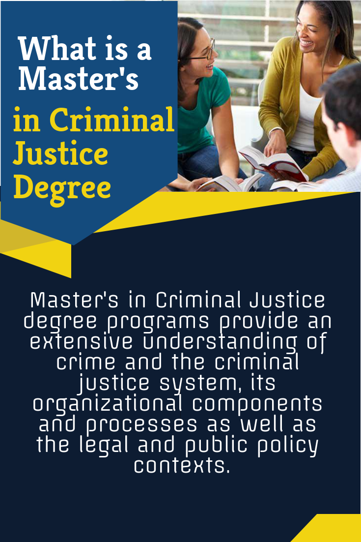 Criminal Justice Degree >> What Is A Master S In Criminal Justice Degree Online