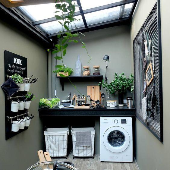 Donde poner la lavadora en casa, cuartos de lavado sencillos, cuarto ...