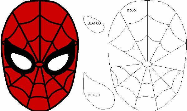 La mascara del hombre araña para decorar pasteles. | Mis cositas de ...
