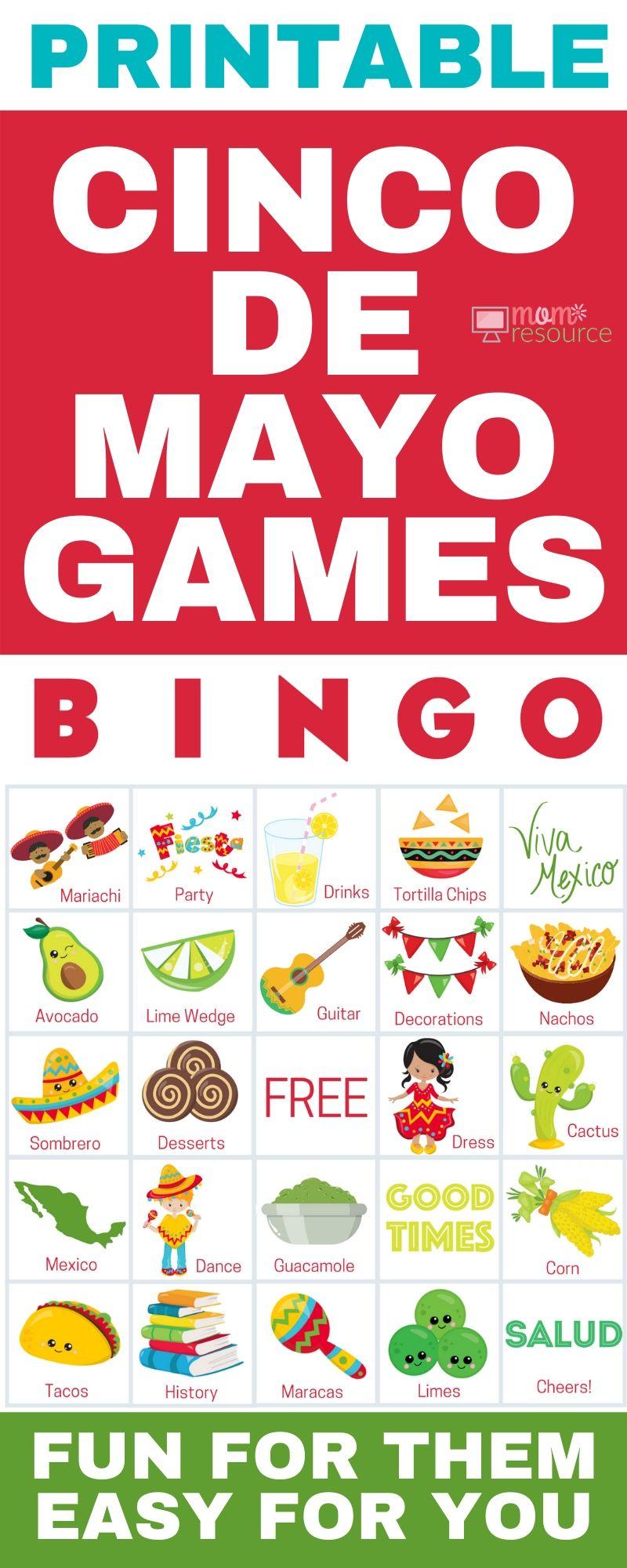 Cinco De Mayo Activities Easy Modern Fun Cinco De Mayo Activities Cinco De Mayo Party Bingo For Kids [ 2000 x 800 Pixel ]