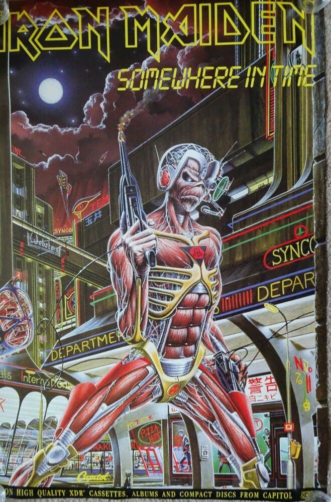 Iron Maiden Somewhere In Time Poster 22 X 34