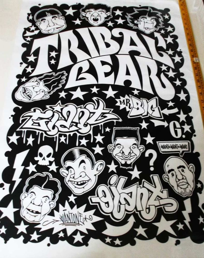 Orig 95 mike giant tribal gear urban street tatoo graffiti art poster 24 x 36