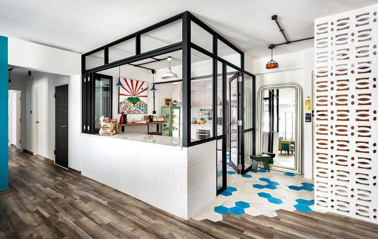 13 spaces you wouldn 39 t believe are from hdb flats glass - Glass wall panels kitchen ...
