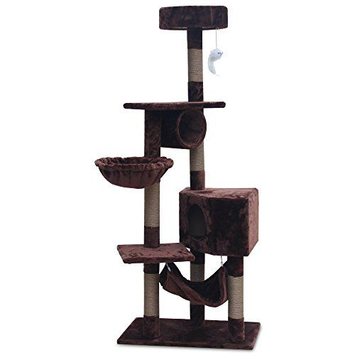 hapigo 63 h 6tier cat condo towers cat activity tree house with hammock for multiple catsbrown hapigo 63 h 6tier cat condo towers cat activity tree house with      rh   pinterest
