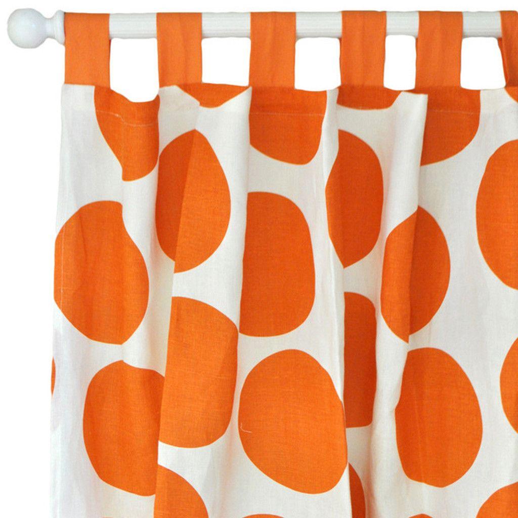 Spot On Tangerine Curtain panels (pair)