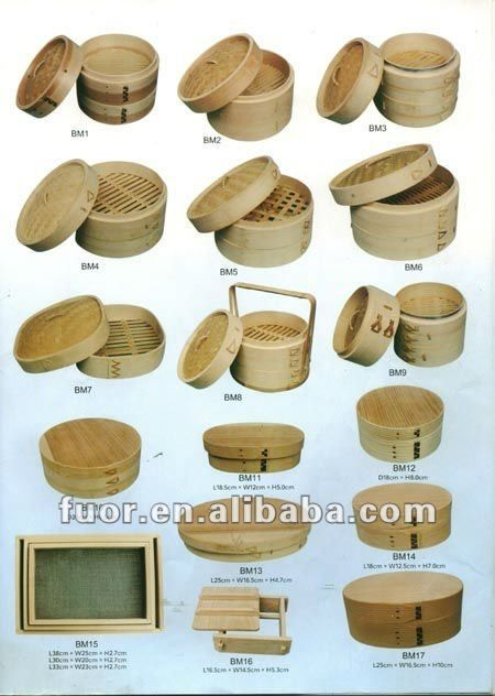 Asian bamboo steamers