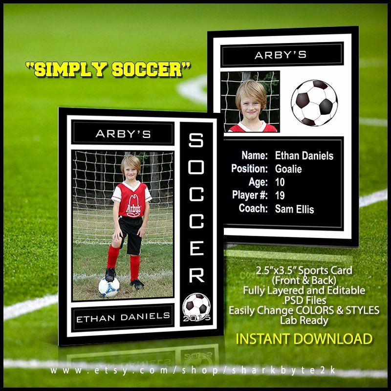 Baseball Card Template Photoshop Luxury 2017 Soccer Sports Trader Card Template For Shop In 2020 Trading Card Template Baseball Card Template Soccer Cards