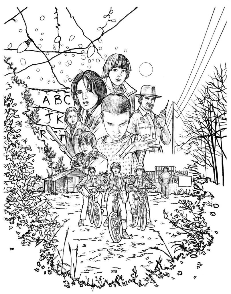 Cool Coloring Pages (With images) Stranger things poster