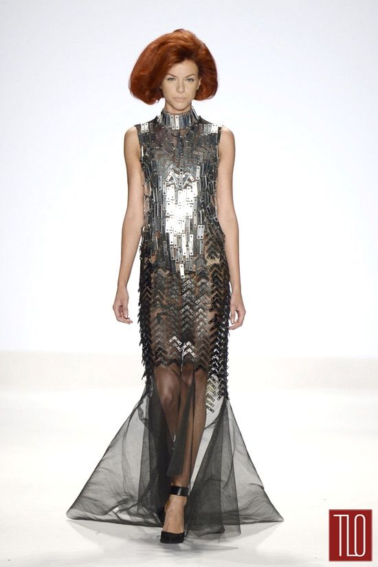 Project Runway Final Collections: Dom's amazing Gown! on| Tom & Lorenzo
