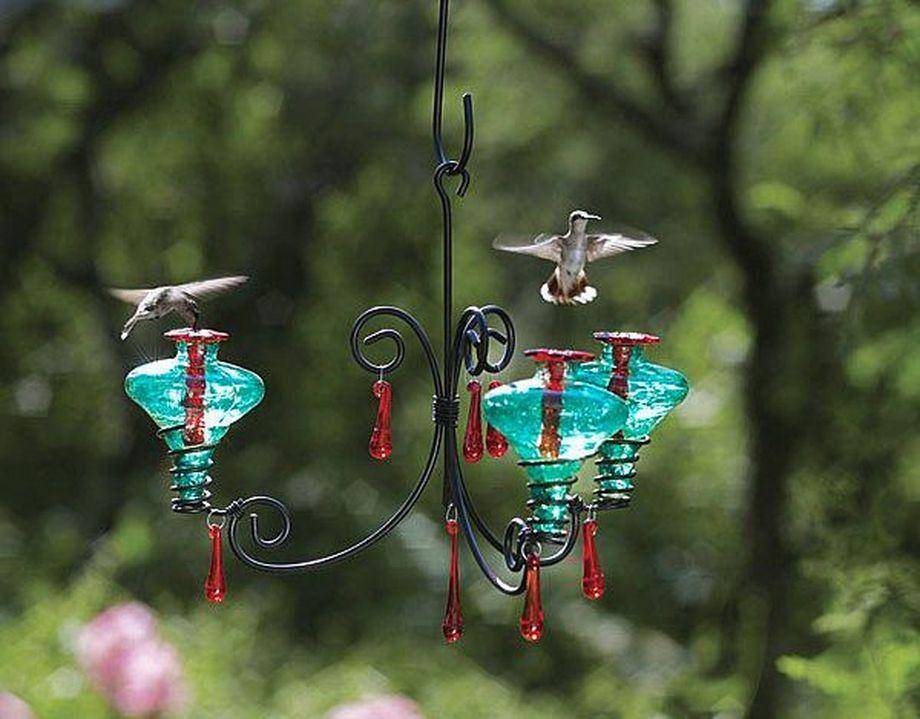 40 Creative Diy Chandelier Hummingbird Feeder Ideas Glass Hummingbird Feeders Humming Bird Feeders Blown Glass Chandelier