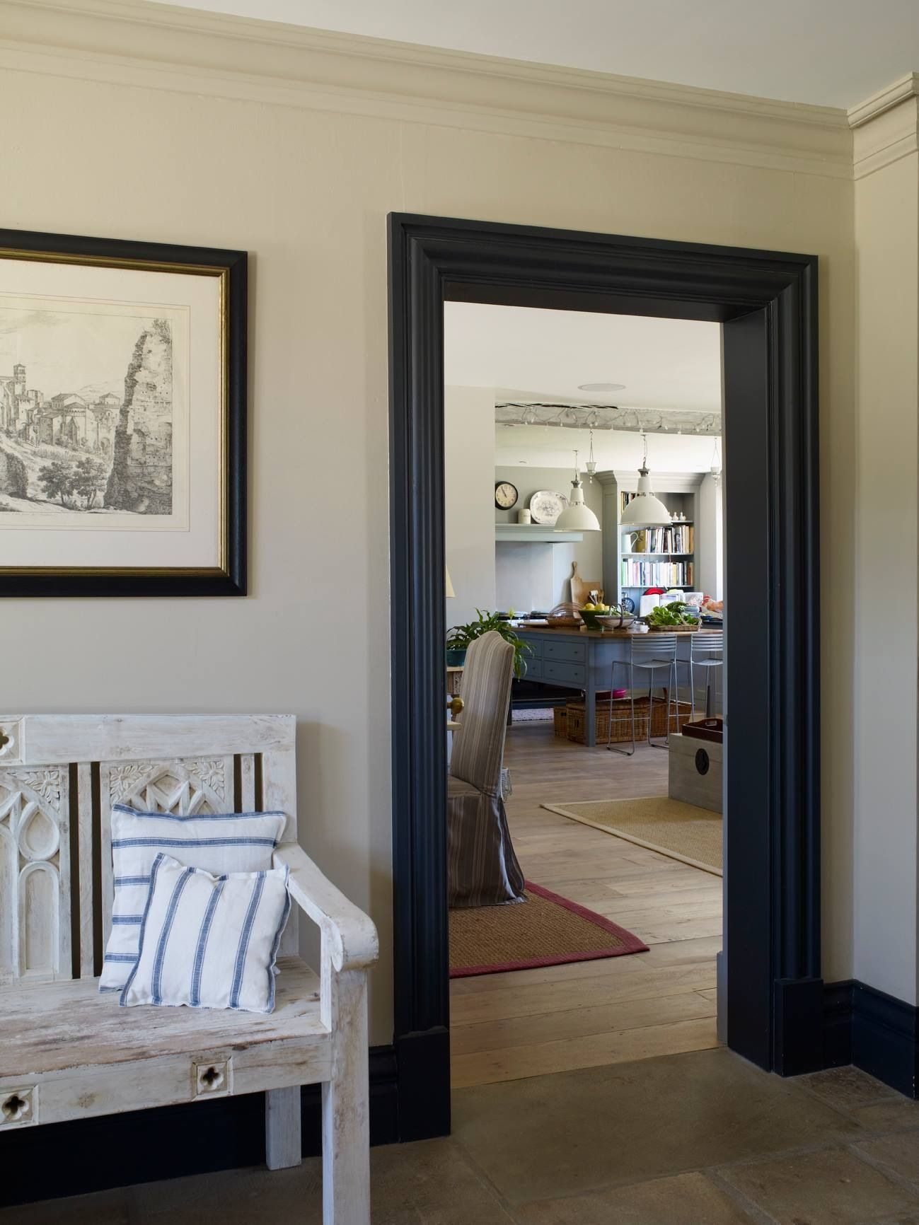 Crown Molding Painted To Match The Wall Color Statement Trim Baseboard In Contrasting House Garden Magazine Facebook Page Photo By Sarah