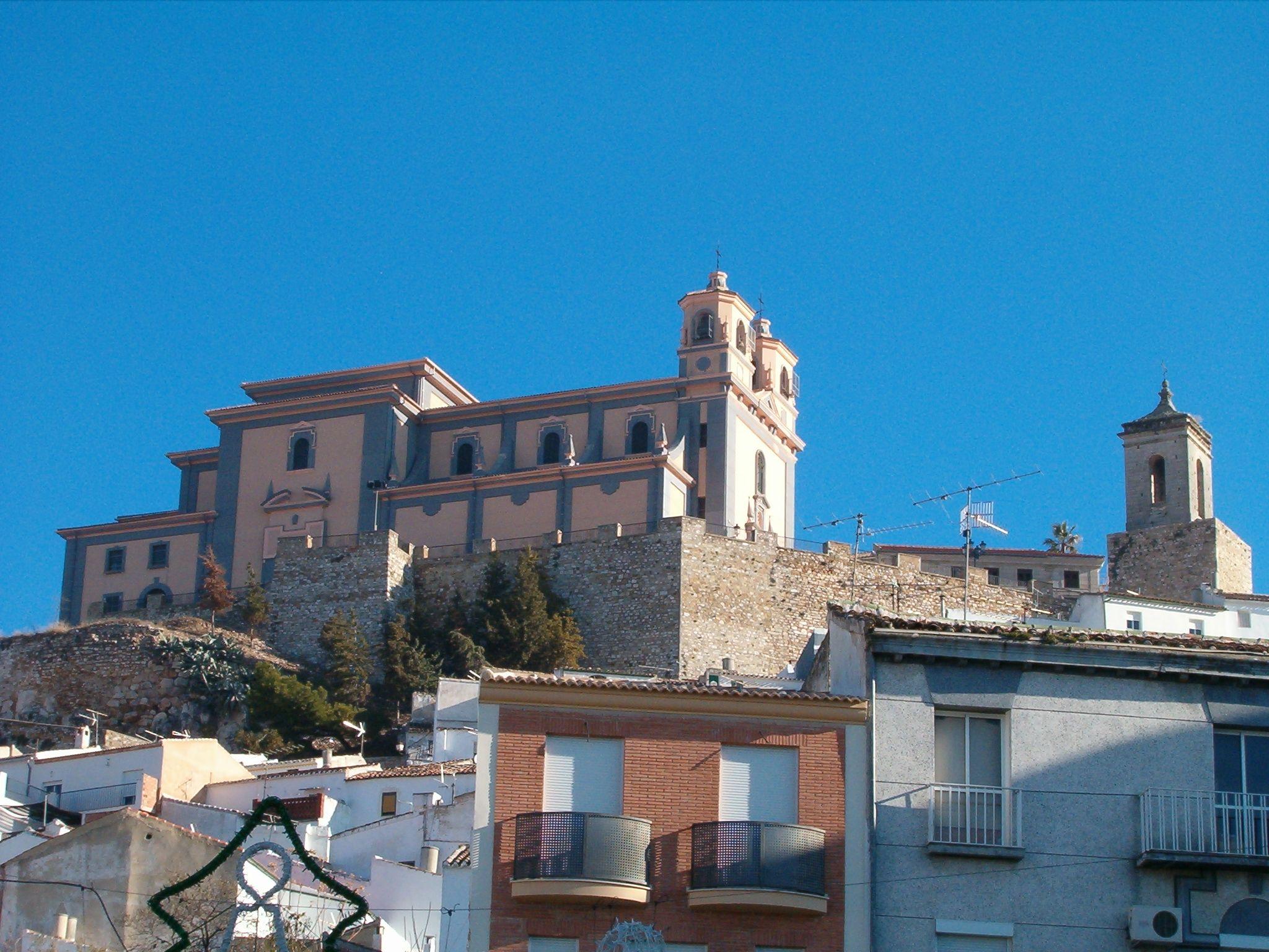 vista del santuario de la Virgen de la Villa desde la Fuente Nueva