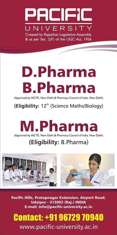 Pin By Pacific University On Leading University In Rajasthan Udaipur Pharmacy Science University