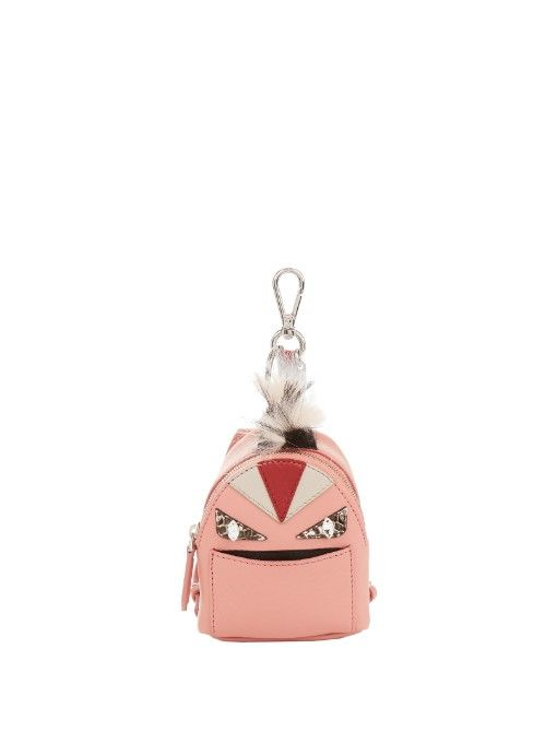 Womens Leather & Fur Coin Purse Bag Charm Fendi oXDV9oJsBE