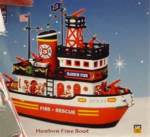 Harbor Fire Boat Lemax Carole Towne Village For Lowes
