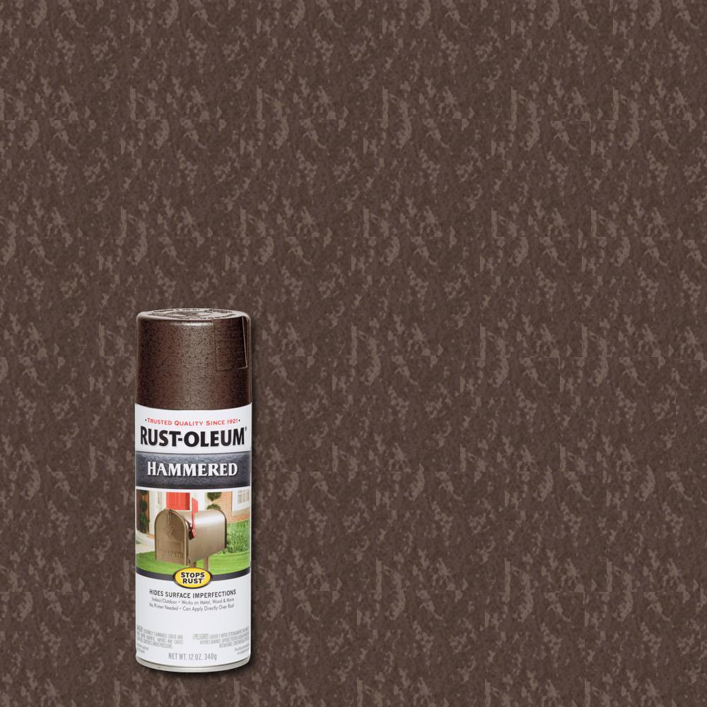 Rust Oleum Stops Rust 12 Oz Hammered Brown Protective Spray Paint 6 Pack In 2020 Rustoleum Rust Spray Paints